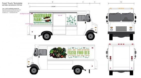 West philly fresh food hub truck will improve access to for Food truck layout plans