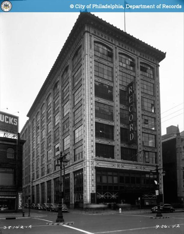 The Philadelphia Record Identical To Motor Car Building In All But Signage 1942